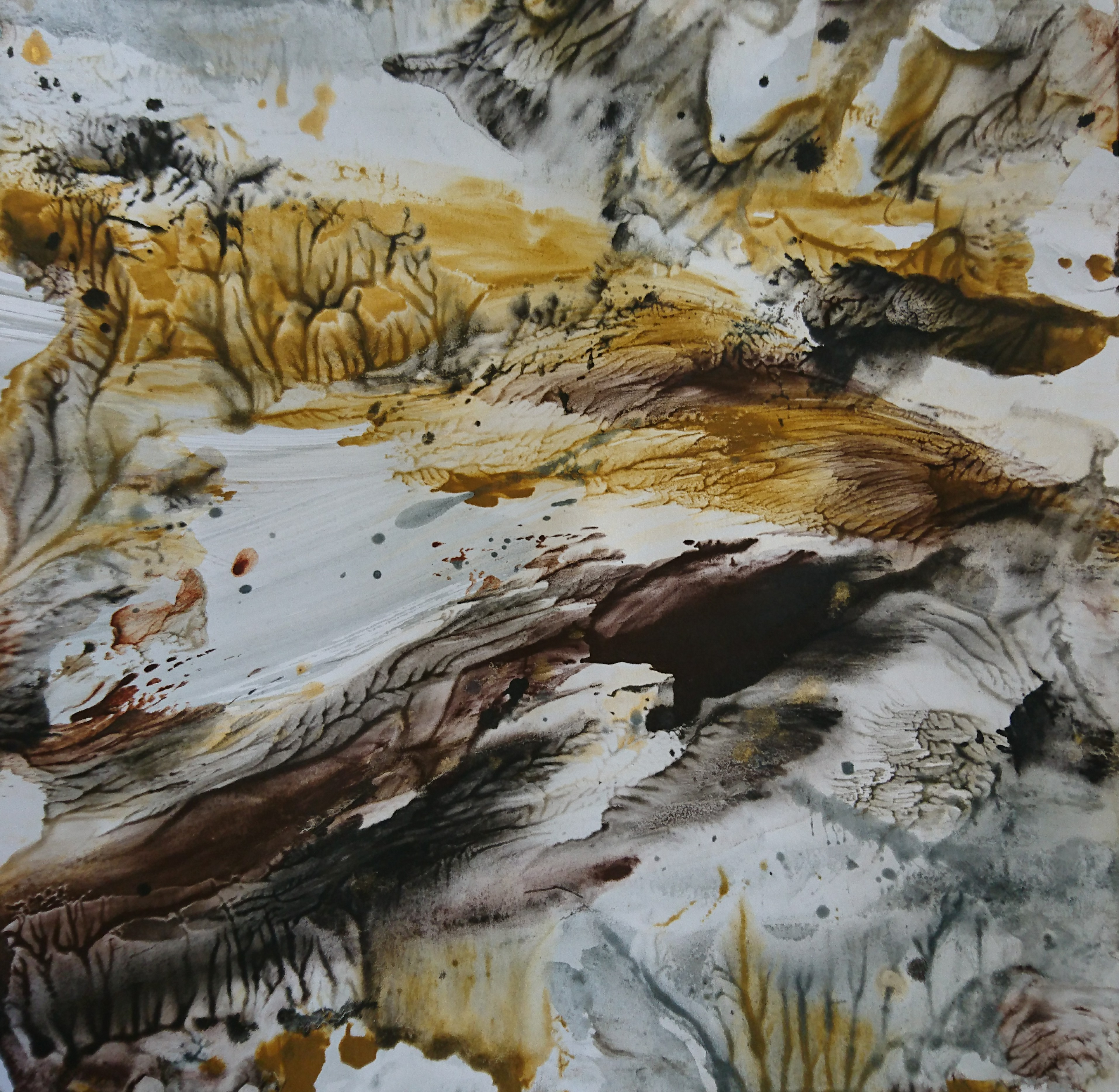 Yu Zhao, Ravin, tempera/paper, 30x30cm, 2019