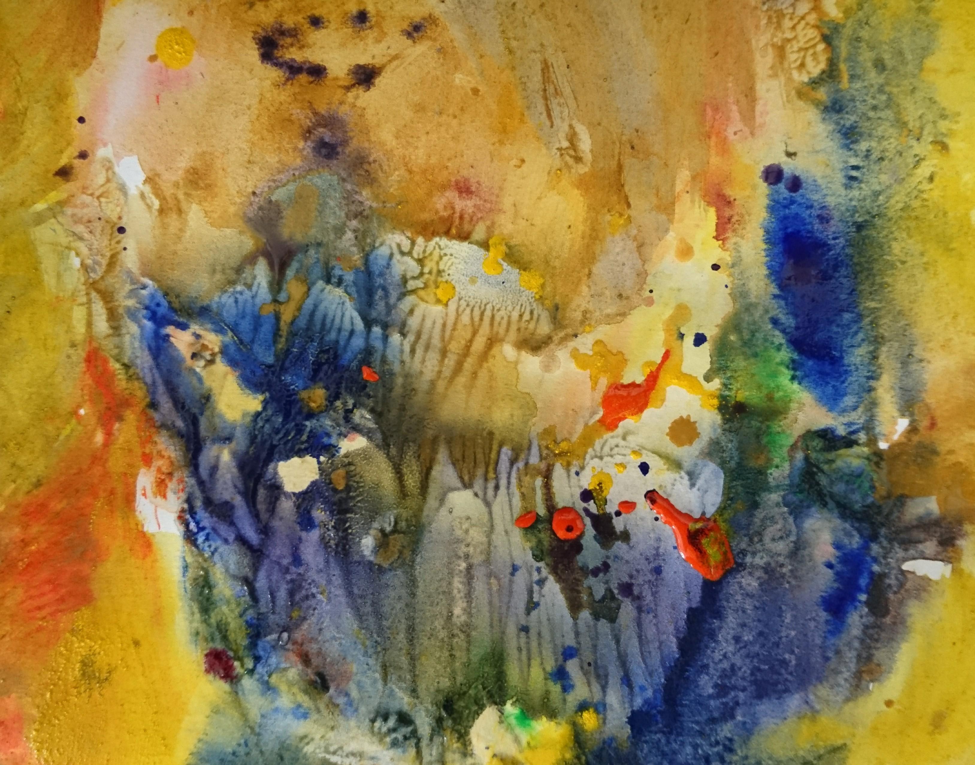 Grain de moutarde, tempera/paper, 24x18cm, 2017, private collection, Yu Zhao