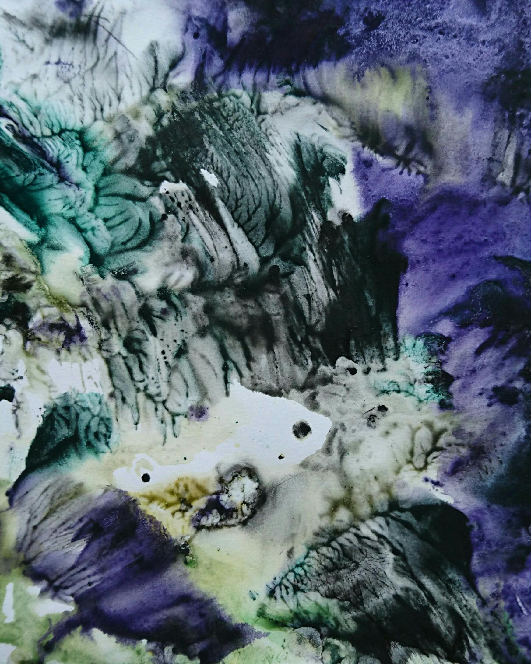 Yu Zhao, Ravin, tempera/paper, 24x30cm, 2017