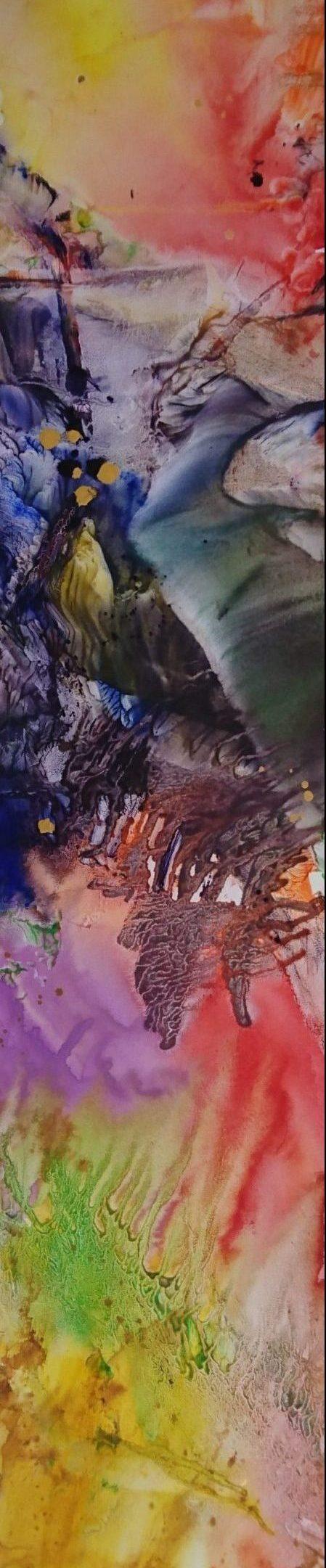 Africa, tempera/paper/canvas, 150x30cm, 2016