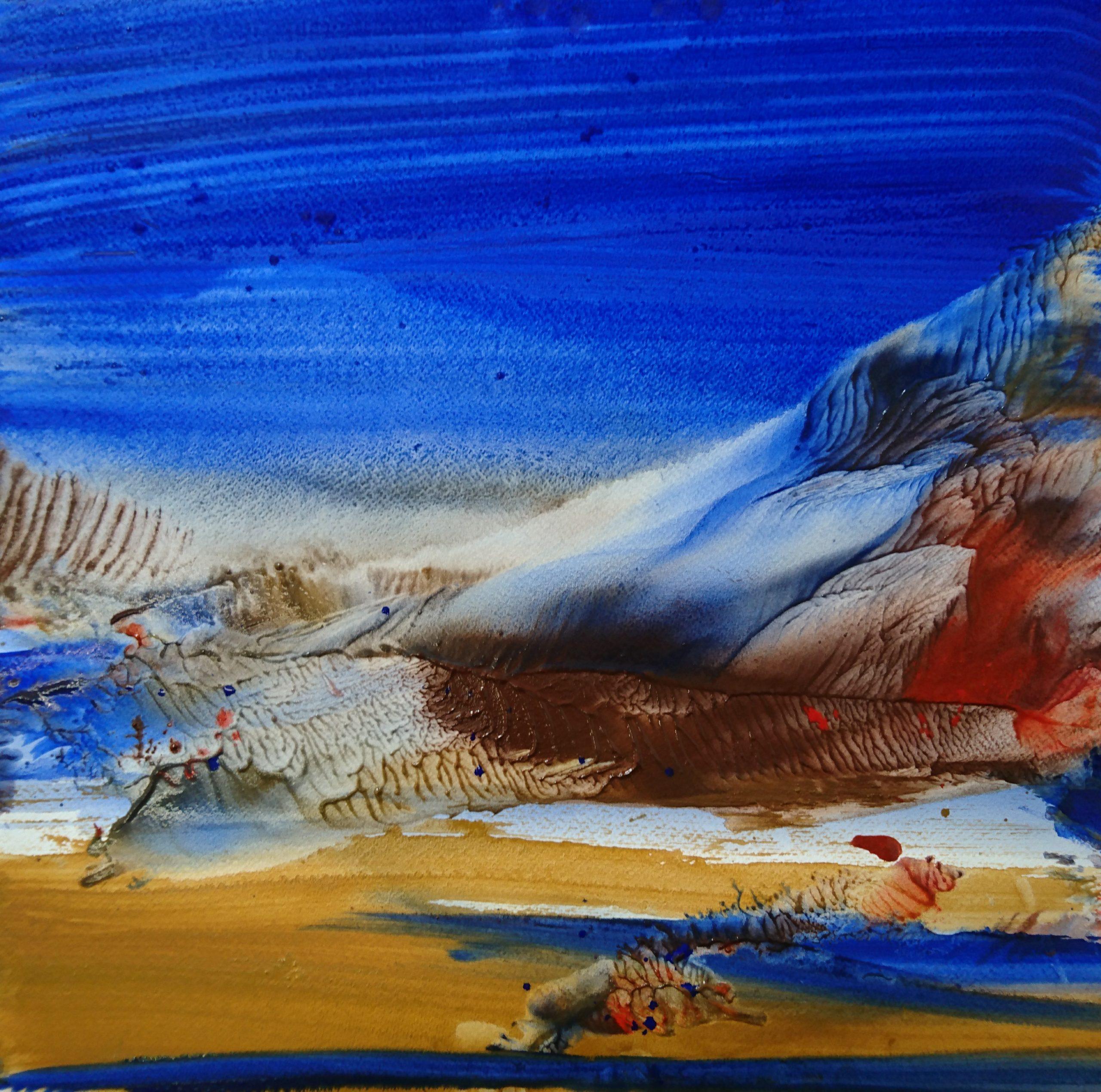 Littoral, tempera/paper/canvas, 40x40cm, 2019